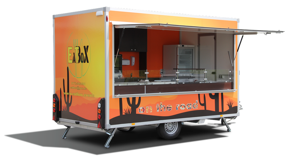 Vending trailer with customized