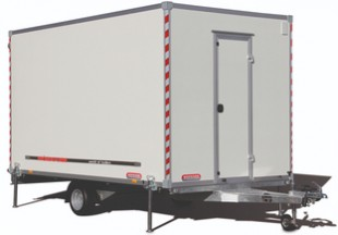 Wörmann site trailer - the mobile recreation room for construction sites