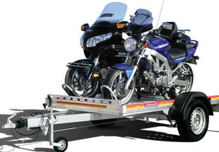 Motorcycle trailer from Wörmann - Get your bike on the trailer